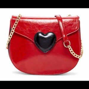 Pink Haley Eunice Heart Crossbody Bag *Wine Red*